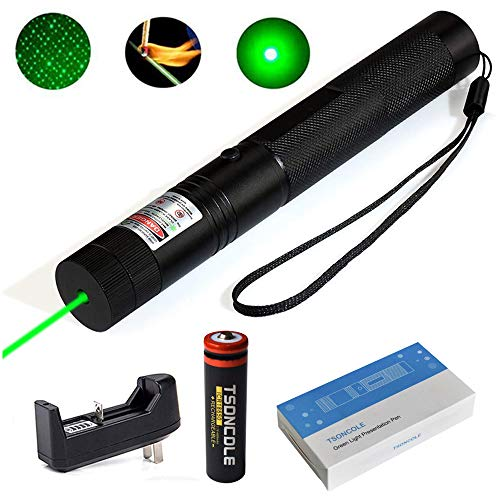 TSONCOLE Tactical Green Hunting Rifle Scope Sight Laser Pen, Demo Remote Pen Pointer Projector Travel Outdoor Flashlight, Funny Toys