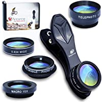5 in 1 Kit Phone Camera Lens, 2X Telephoto Lens, Wide...