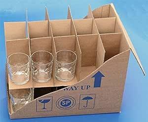 Caja con compartimentos para cristalería, de Parrett, 30 celdas: Amazon.es: Hogar