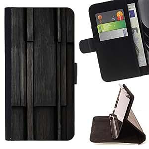 - Wood Pattern/ Personalizada del estilo del dise???¡¯???¡Ào de la PU Caso de encargo del cuero del tir???¡¯????n del s - Cao - For HTC One M7