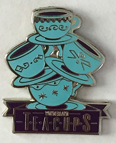 Disney Pin 116313 DLR - Disney Mascots Mystery from Pin Pack - Wonderland Teacups Pin Alice in Wonderland Ride Disneyland