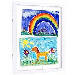 Pearhead Children\'s Artwork Storage Frame, White