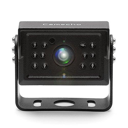 Camecho RC 12V 24V Backup Camera 12 IR Night Vision IP 68 Waterproof Car Rear View Camera for Wireless Vehicle Reverse System