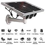 Funxwe 1080P Full-HD Solar Power WiFi IP Camera P2P Wireless AP Network 2.0 Megapixels Starlight Night Vision Outdoor Battery Powered