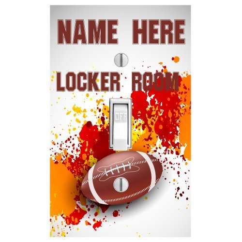 Personalized Football Printed Light Switch Cover