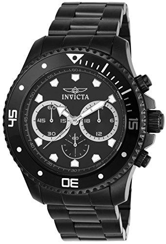 Invicta Men's 21792 Pro Diver Analog Display Quartz Black Watch Invicta Black Wrist Watch