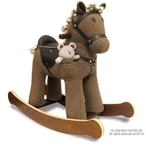 (Little Bird Told Me LB3020 Chester & Fred Rocking Horse Ride On, Houndstooth )