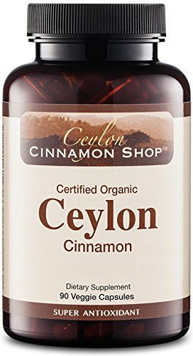 Organic Ceylon Cinnamon (100% USDA Certified) Supplement, 90 Capsules
