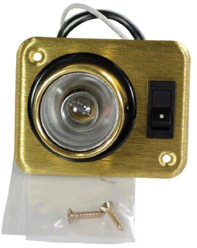 arcon-18087-brass-square-12v-aircraft-style-single-light