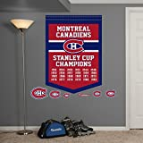 Fathead 64-64297 Wall Decal, NHL Montreal Canadiens Stanley Cup Championships Banner RealBig