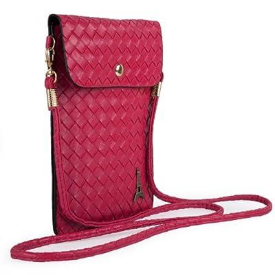 Paris Emblem Braid Womens Pouch Bag for HTC One M8 / Desire Eye, 612, 610