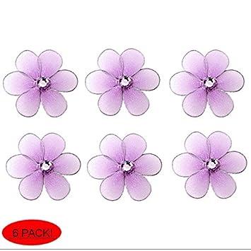 Flower Decor 2u0026quot; Purple Lavender Mini X Small Nylon Mesh Flowers Daisy  Daisies 6