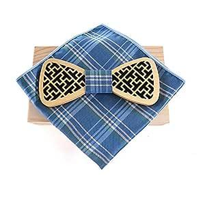 Corbatas de lazo de madera natural Original Pajarita de madera ...