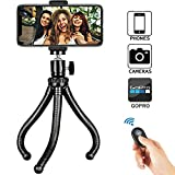Phone Tripod, Universal Flexible Cell Phone Tripod Stand Grip Holder Mount for iPhone