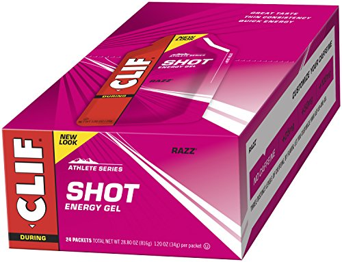 CLIF SHOT – Energy Gel – Razz – No Caffeine (1.2 Ounce Packet, 24 Count)