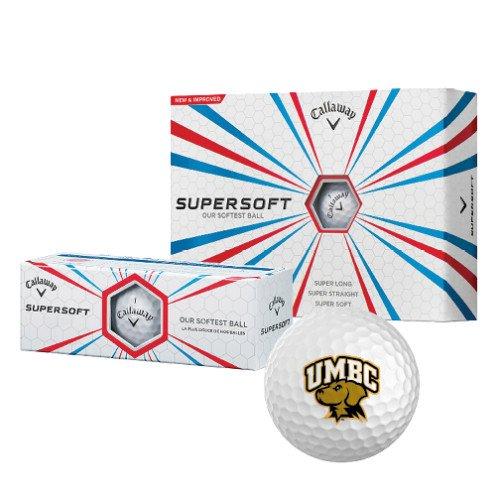 UMBC Callaway Supersoftゴルフボール12 / Pkg '公式ロゴ – アーチ型UMBC W / Retriever ' B00SIOJ9YS