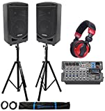 Samson Church/School Portable 8'' Audio Visual Speaker Sound System+Headphones