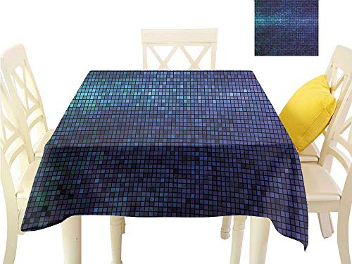 WilliamsDecor Picnic Cloth Abstract,Fractal Mosaic Squares Waterproof Table Cloth W 60