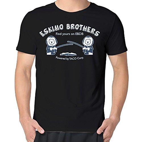 Eskimo Brothers EBDB Logo Print Man's Short Sleeve Crazy Crew Neck T-shirts (Eskimo Outfit)