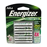 Energizer Rechargeable Batteries Size Aa Nimh Blister Pack 4