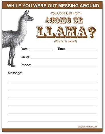 Como Se Llama?, Funny Phone Messages Pad Notepad