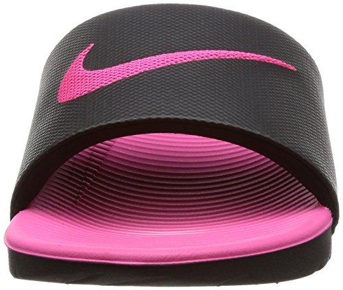 Nike Kawa Slide (GS/PS), Scarpe da Spiaggia e Piscina Bambina Multicolore (Black / Vivid Pink 001)