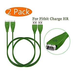 Amazon.com: Fitbit Charge HR Cargador, kingacc 2-Pack 3 foot ...