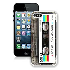 Customized Case For Samsung Galaxy S5 Cover Case Audio Cassette White Soft PC Cell Phone Case For Samsung Galaxy S5 Cover