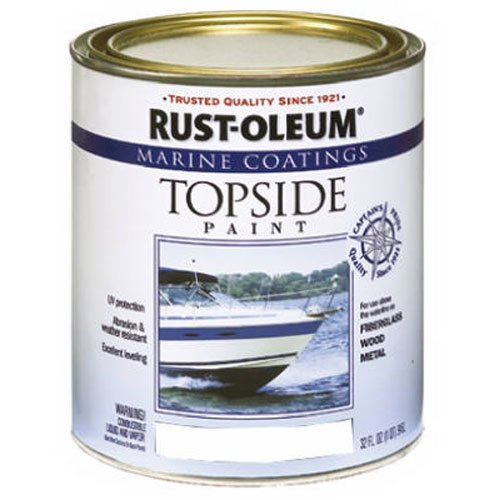 Oil Based Deck (Rust-Oleum 206999 Marine Topside Paint, White, 1-Quart)