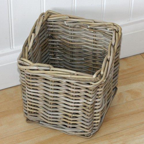 Small Cube Or Square Rattan Storage Basket   21986: Amazon.co.uk: DIY U0026  Tools