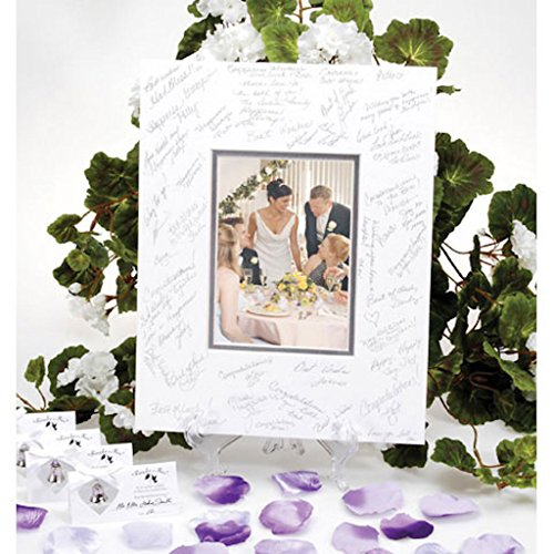 8 Autograph Mat Wedding Guest Book Picture Frame With Silver Pen Photo Frame Guest Book