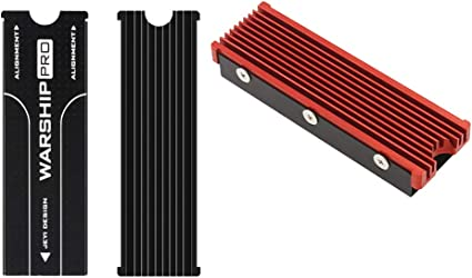 2 Pieces Aluminum Heatsink Cooling Fin for NVMe M.2 SSD with Thermal Pad