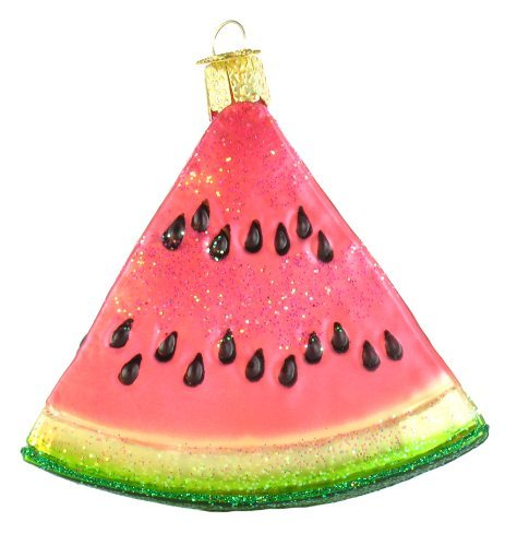 Old World Christmas Ornaments: Watermelon Wedge Glass Blown Ornaments for Christmas Tree