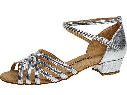 008 Silber Femme 035 Salon Chaussures Danse De Diamant 8adqpax