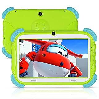 Kids Tablet 7 Inch, ANTEMPER IPS HD Eye Protection Display Toddler Tablet with Education Apps Games, 16GB ROM Parent Control, GMS Certified, WiFi Dual Camera, Kid-Proof Case (Green)