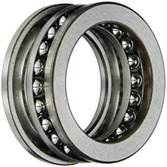 SKF 51109 Single Direction Thrust Bearing, 3 Piece, Grooved Race, 90° Contact Angle, ABEC 1 Precision, Open, Steel Cage, 45mm Bore, 65mm OD, 14mm Width, 12800lbf Static Load Capacity, 5440lbf Dynamic Load Capacity