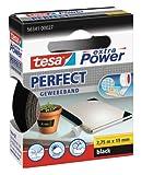 tesa 563410002702 extra Power Gewebeband schwarz, Länge 2,75 m, Breite 19 mm