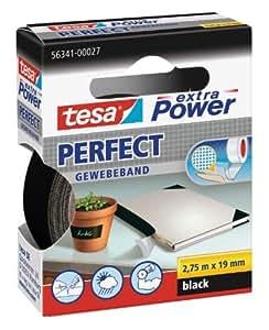 TESA Extra Power 19mmx2.75m 2.75m Negro 1pieza(s) - Cinta adhesiva (2,75 m, Negro, 1 pieza(s), 19 mm)