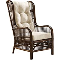 Panama Jack Sunrooms PJS-2001-ATQ-OC Bora Bora Occasional Chair with Cushion, Light Beige