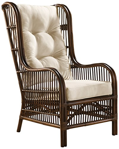 Panama Jack Sunrooms PJS-2001-ATQ-OC Bora Bora Occasional Chair with Cushion, Light Beige (Wicker Swivel Weather)