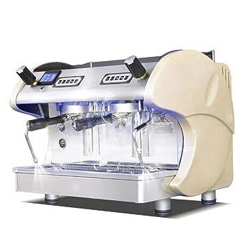 QSM Máquina de Café, Semiautomática Doble Cabezal 3.5Kw Máquina de Café Espresso de Alta