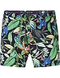 Men's Elasticated Swimshort with Colourful All-Over Print