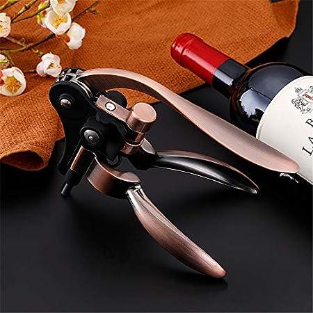 ZoSiP Sacacorchos del Vino del Abrelatas Abrelatas del Vino Tipo de Juego de Conejo con Vino Tapones, Anillo de Goteo, lámina cortadora y Extra Botella de Vino del sacacorchos abridor Kit