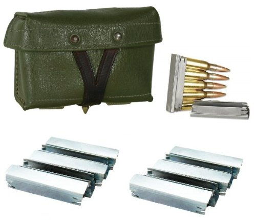 Ultimate Arms Gear Chinese Chi Com Chicom Type 53 Military Surplus Green Mosin Nagant M38 M44 91/30 1891 91 30 7.62x54 7.62x54R + Pack Of 10 Steel Stripper Clips (Sks Magazine Steel compare prices)