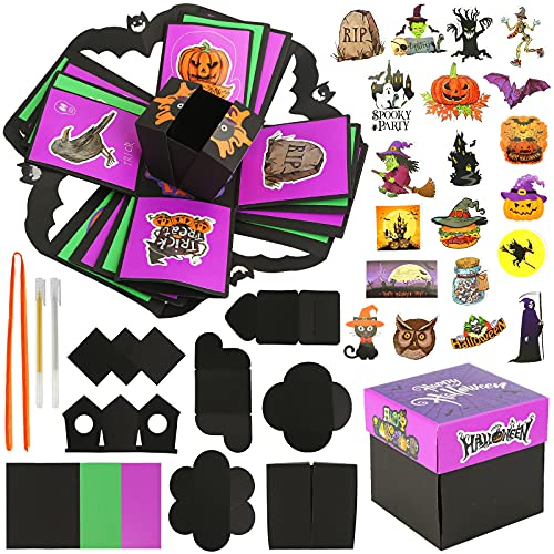 Koogel Explosion Box Set, Halloween Album Gift Box Creative Album Surprise Album Sticker Box for Marriage Proposals Making Surprises Birthday