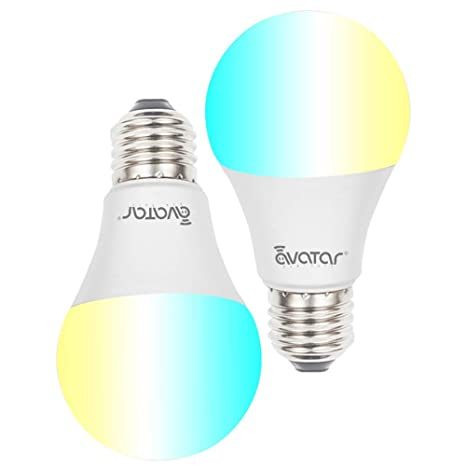 Smart Bulb, Smart LED Light Bulbs Dimmable, E27 A19 6000K~6500K + RGB Color  Changing WiFi Lights, Compatible with Google Home, IFTTT, Smart Life APP-2