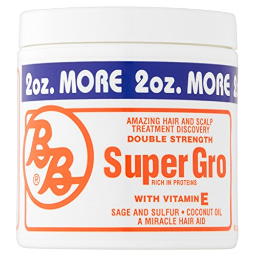Bronner Brothers Double Strength Super Gro Treatment with Vitamin E 6 oz