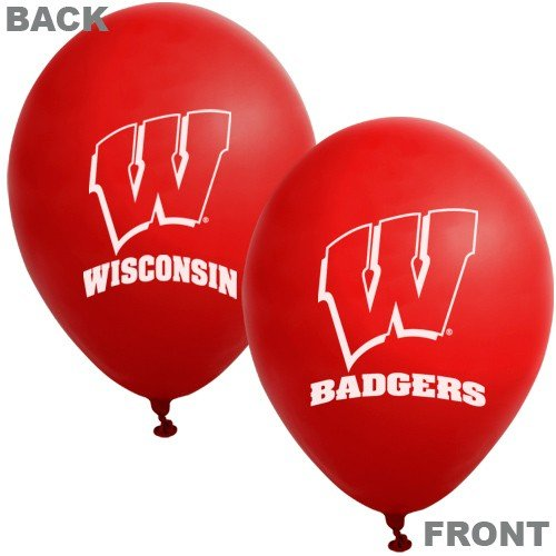 Collegiate Latex Balloons Wisconsin Package of 10 -