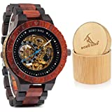 BOBO BIRD Mens Wooden Watches Luxury Mechanical Watch Lightweight Wood Band Timepieces for Men