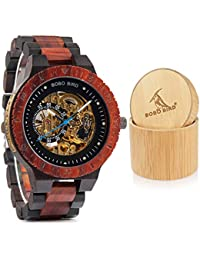 Mens Wooden Watches Luxury Mechanical Watch Lightweight...